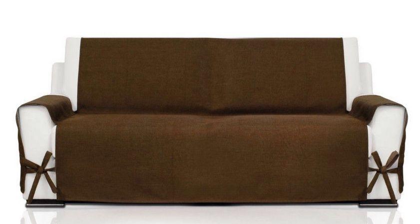 Copridivano soft copri divano penisola chaiselong angolare laccetti canapone ebay - Copri divano con penisola ...