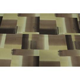 Tessuto Cotone QUADRI ASTRATTO Marrone Beige Tortora 2,80 x 2,80 mt