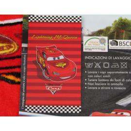 Telo Mare Spugna DISNEY CARS Rosso 70 x 140 cm Piscina Spiaggia Bambino Bimbo