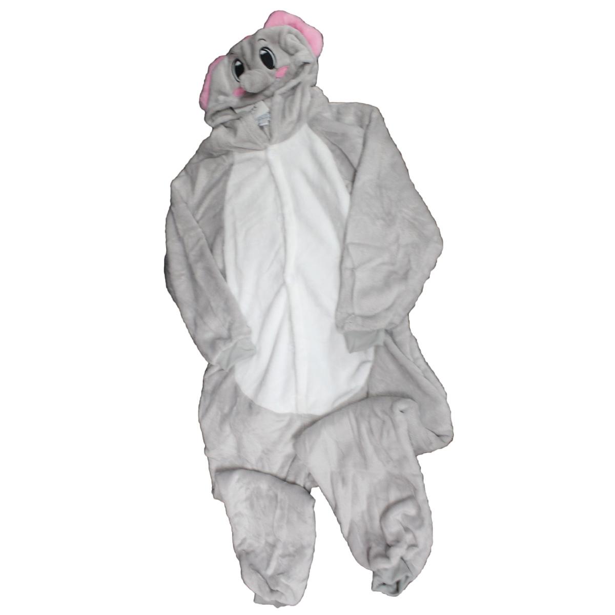 Tuta-Pigiama-Costume-Onesie-Carnevale-Halloween-Uomo-Donna-Unisex-Elefante