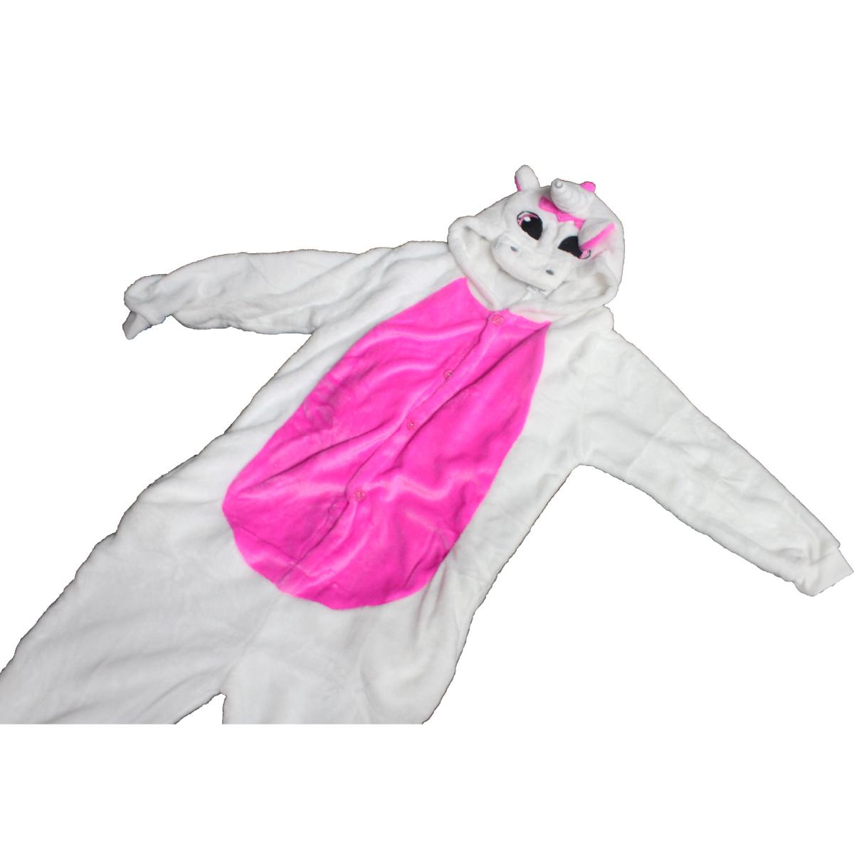 Tuta-Pigiama-Costume-Onesie-Carnevale-Halloween-Unisex-Bimbo-Bimba-Unicorno-Rosa