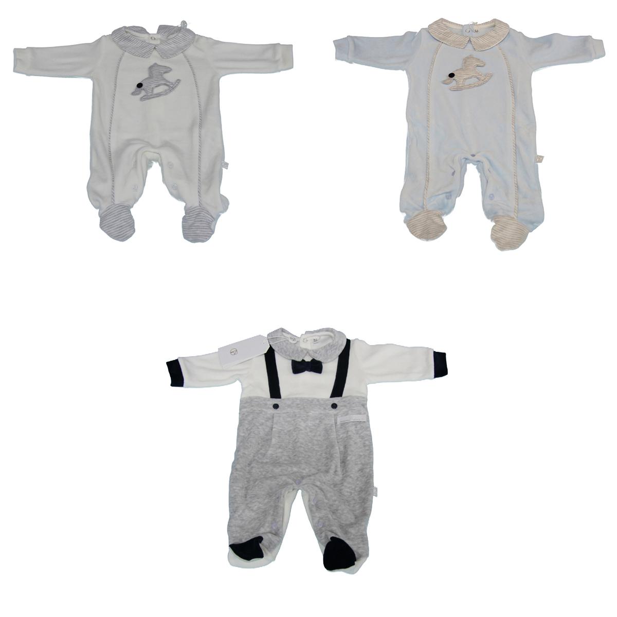 l'atteggiamento migliore 77f25 b91bd Dettagli su Tutina Pigiama Neonato Intero NAZARENO Baby CINIGLIA Bambino  Clinica
