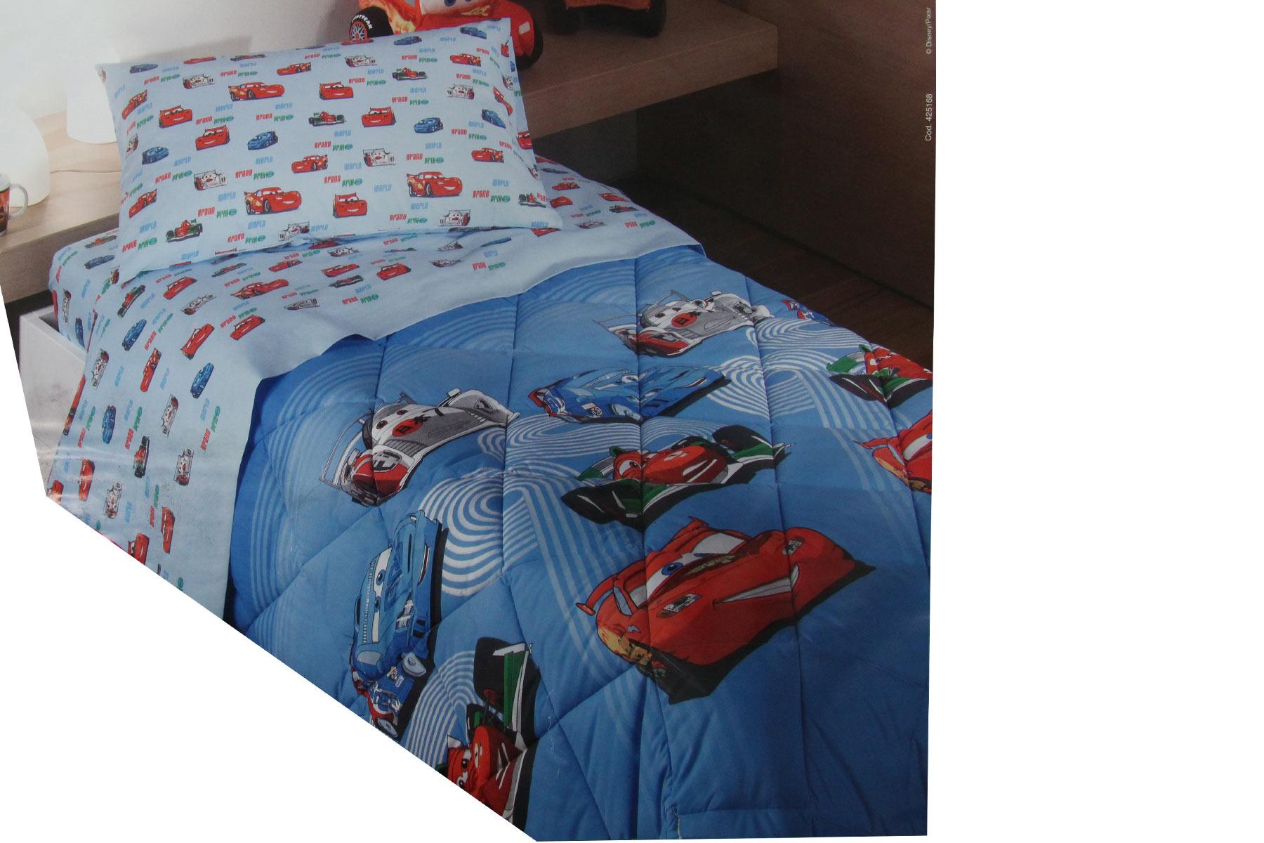 Piumone Letto Singolo Cars.Trapunta Piumone Cotone Letto Singolo 1 Piazza Disney Pixar Cars Azzurra Ebay