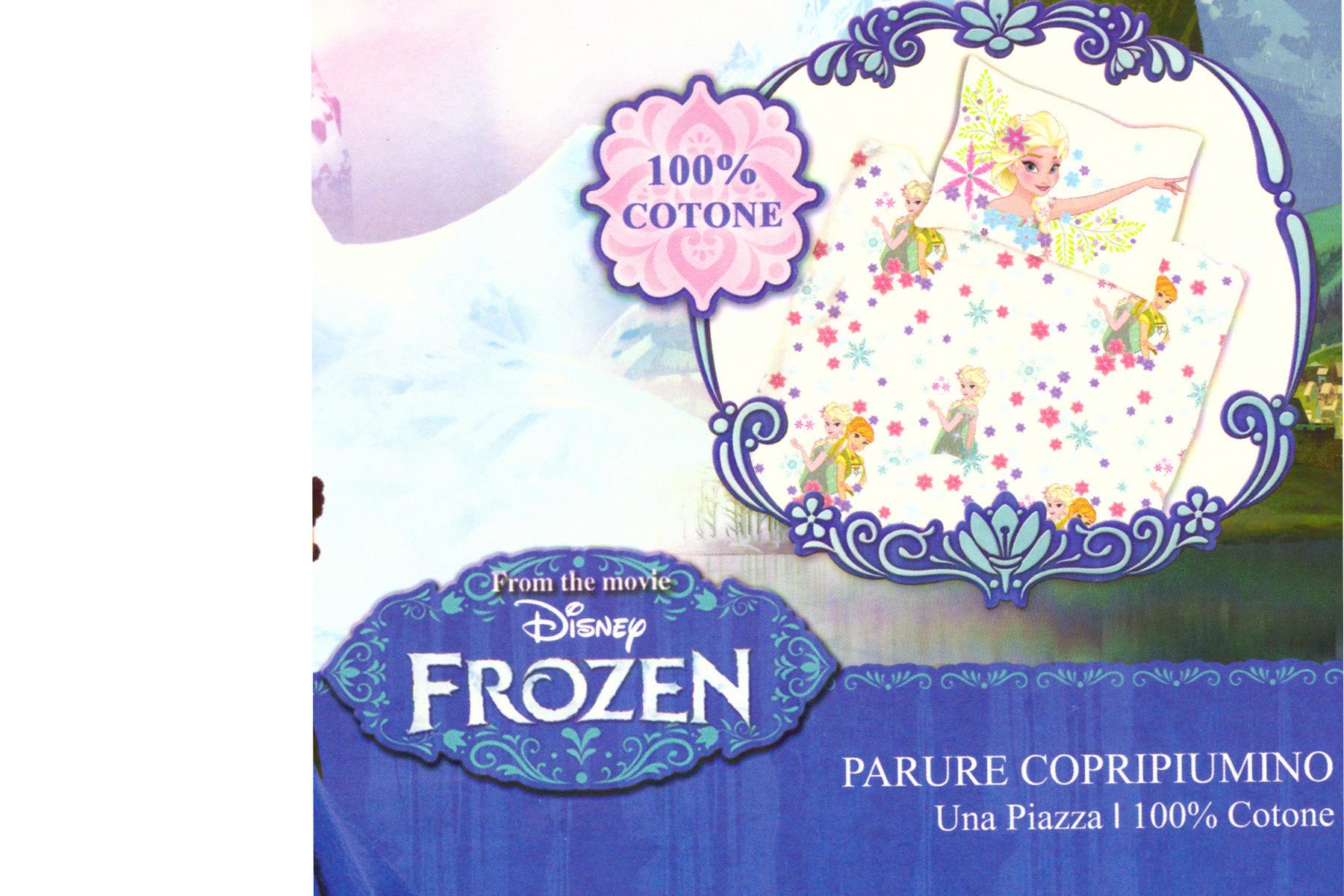 Parure Copripiumino Letto Singolo 1 Piazza Frozen Bianco 100 Cotone Ebay