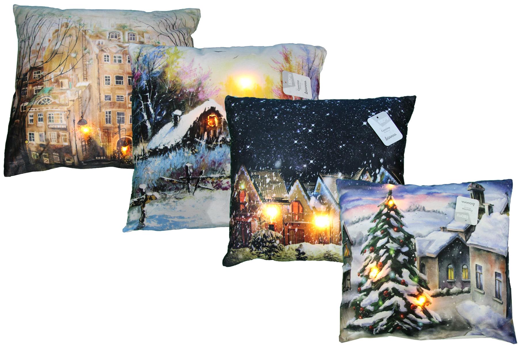 Cuscini Invernali.Cuscino Led Decorazione Natale Inverno Luci Decorativo Pillow