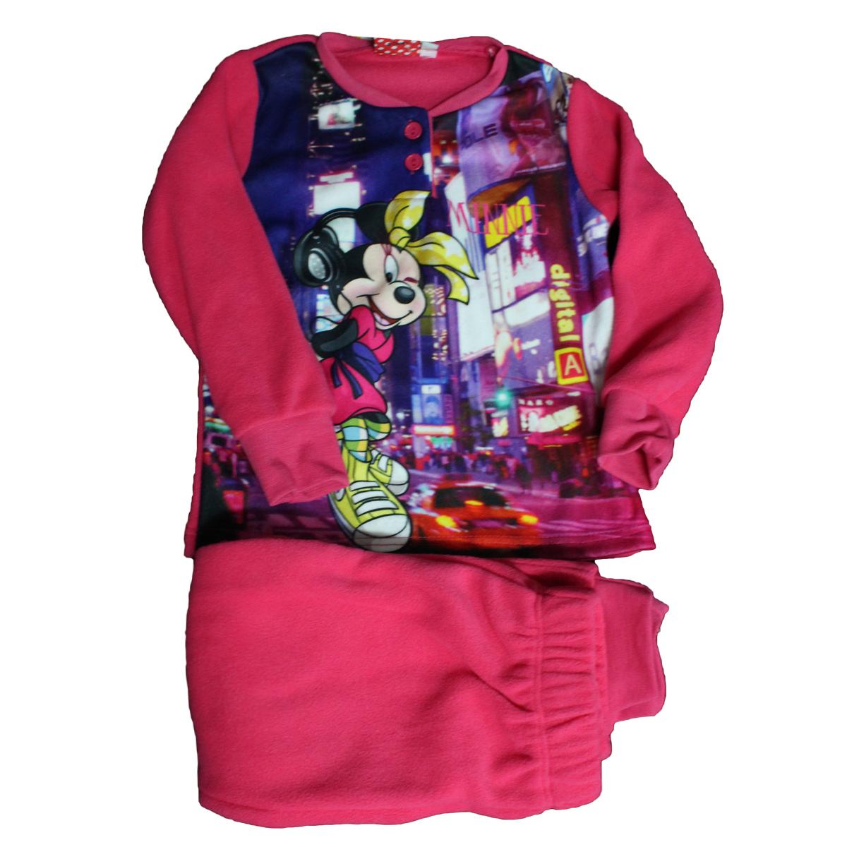 nuovo arrivo 7b01d b4207 Pigiama Bimba Tuta Bambina DISNEY Minnie Originale ROSA FUXIA PILE ...