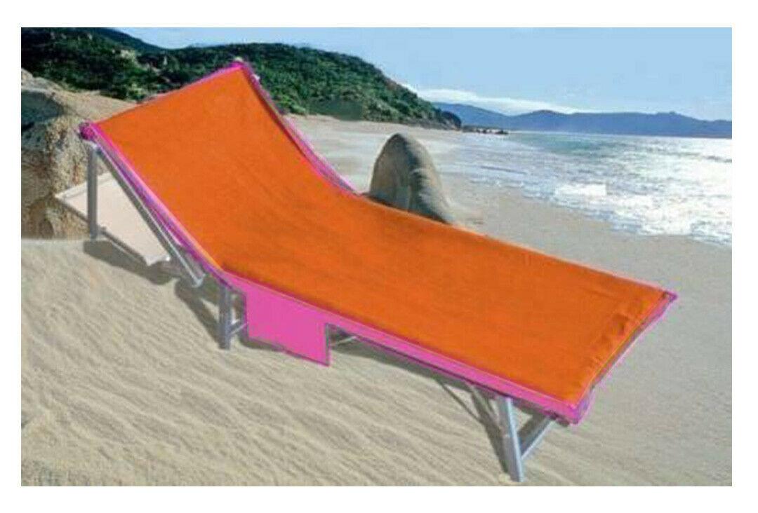 Russo Tessuti Telo Nido dApe Coprilettino con Elastici Tasche Borsetta Spiaggia Mare Sdraio-Arancione//Viola