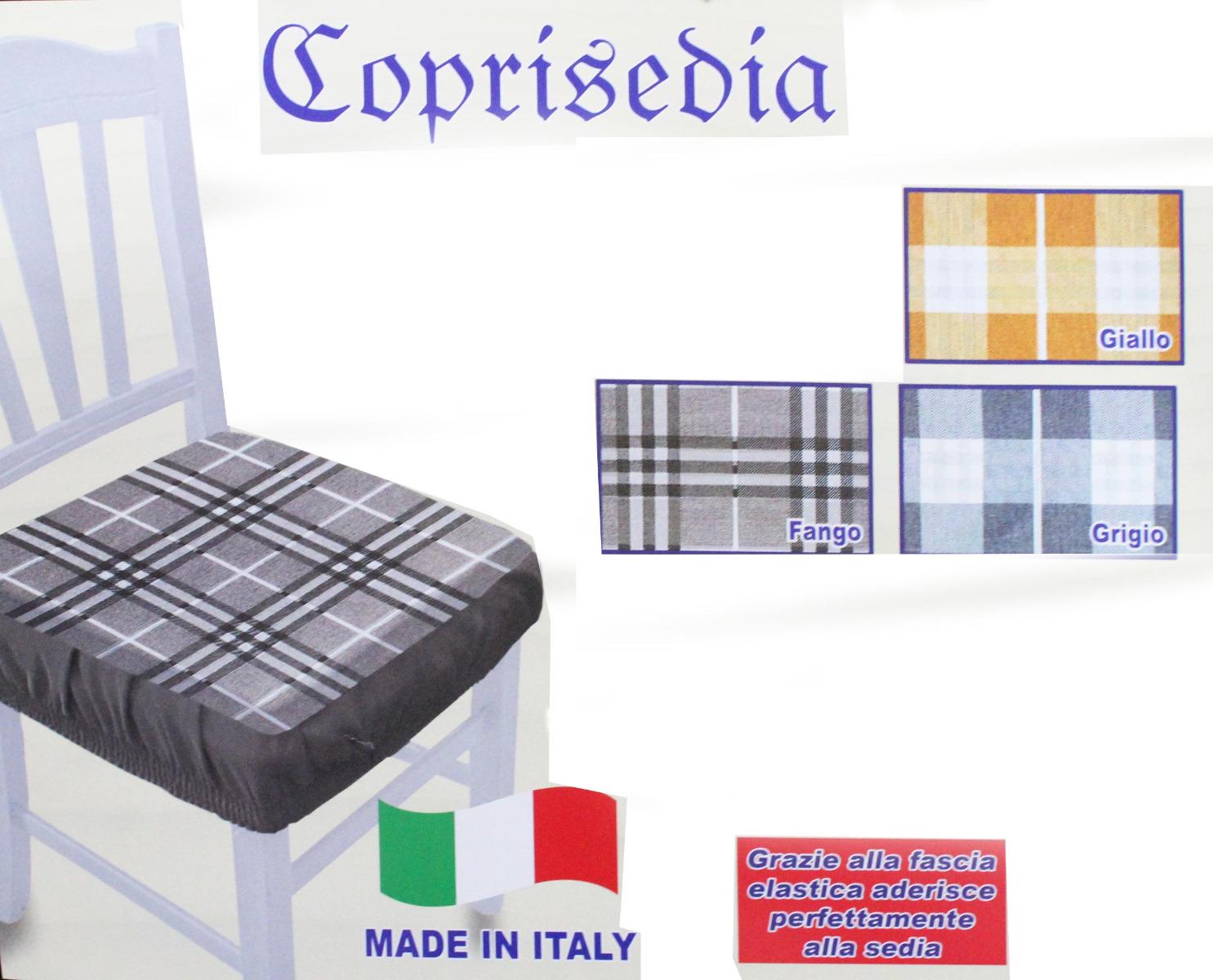 Dettagli su Coppia Coprisedia Cuscini Sedie TARTAN Scozzese Fascia Elastica Sfoderabili