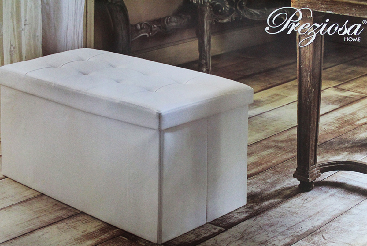 Panca puff pouf capitonne contenitore con divisori sgabello