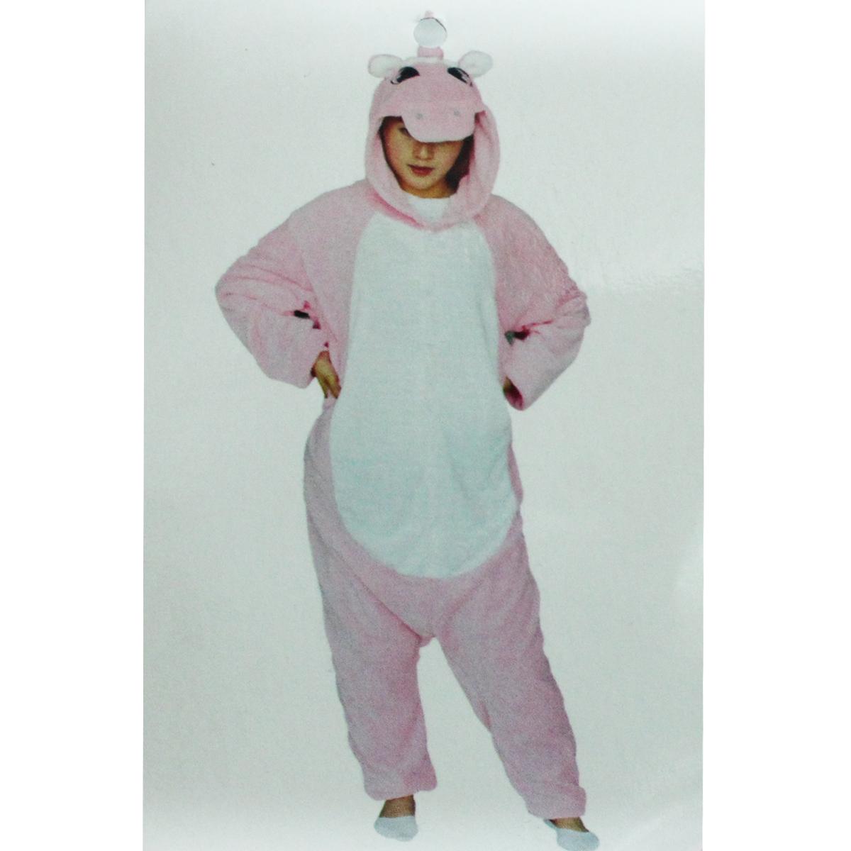 Tuta-Pigiama-Costume-Onesie-Carnevale-Halloween-Uomo-Donna-Unisex-Unicorno-Rosa