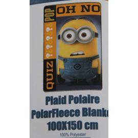 Coperta Plaid MINIONS  100 x 150 100% Poliestere DESPICABLE ME NEW
