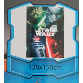 Coperta Plaid STAR WARS 120 x 140 100% Poliestere STAMPA DIGITALE