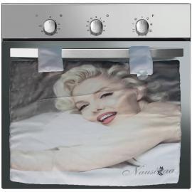 Copriforno Copri Forno Nausicaa con Stampa Marilyn Monroe Cuori Bianco Shabby