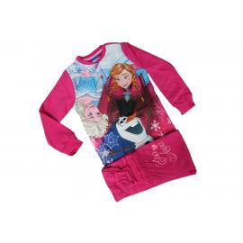 Pigiama Bimba Bambina DISNEY Frozen Elsa Anna Originale FUXIA Rosa Caldo Cotone