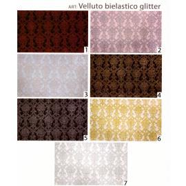 Tessuto Abbigliamento Velluto Bielastico Glitter Danza Ballo 100x140 cm