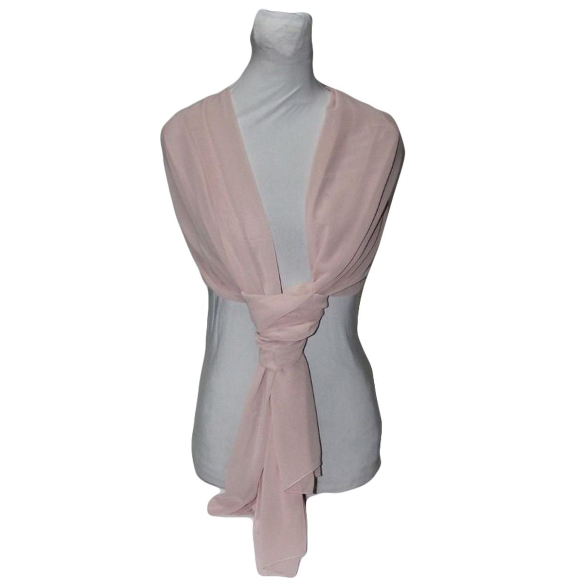 nuovi prodotti caldi nuovi stili negozio outlet Stola Sciarpa Coprispalle GEORGETTE ROSA CIPRIA CHIARO 70x200cm | eBay